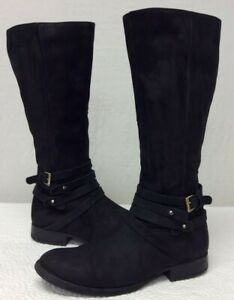 STEVE-MADDEN-Women-039-s-Size-11-M-Adrian-Leather-Knee-High-Boots-Black