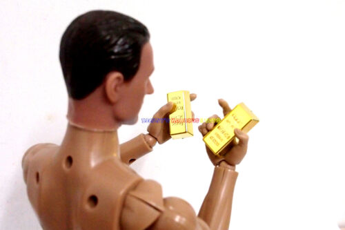 """New Mini Briefcase with 16pcs Gold Bar For 1//6 Scale 12/"""" Action Figure /& Barbie"""