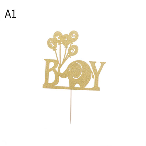 Elephant Its a Boy Girl Baby Shower Cake Toppers Babyshower Party Decoration ~