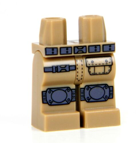Custom Tan LEGO Army Tactical Legs with direct printed kneepads