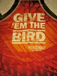 1-Give-Em-The-Bird-Wild-Turkey-Bourbon-Sturdy-Cotton-BBQ-Apron-NEW