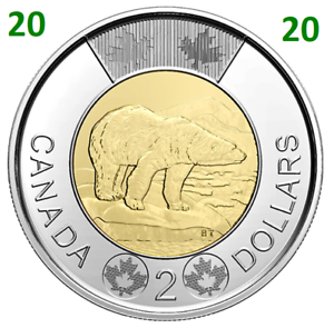 2020-New-Canada-Toonie-2-Dollars-BU-Coin-Polar-Bear-Bi-Metallic-UNC-2020