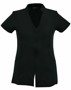SPA-Beauty-amp-Hair-Salon-Hairdressing-Beautician-Nail-Massage-Therapist-Tunic-Zip