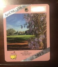1-2015 USED MASTERS GOLF BADGES~COLLECTORS ITEM~RARE TICKET~PIN ATTACHED SPIETH