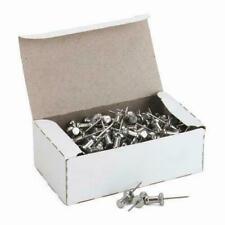 Advantus 100 Aluminum Head Push Pins Steel Silver Office Map Bulletin Metal