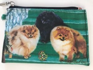 Pomeranian Dog Theme Zippered Coin Purse Ebay