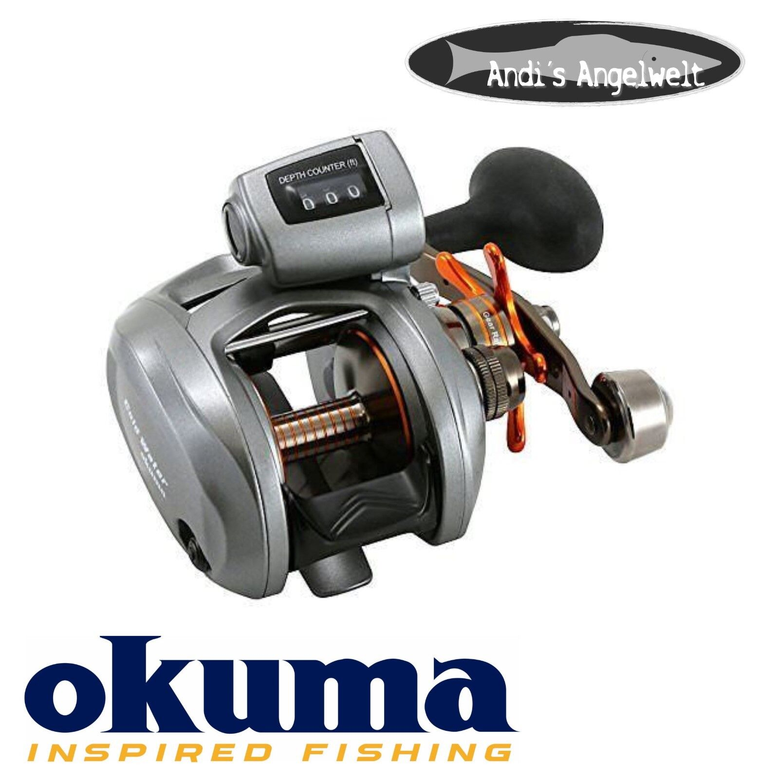 Okuma Cold Water CW-354D - Rechtshandrolle - mit Tiefenmesser (ft)   discount sales