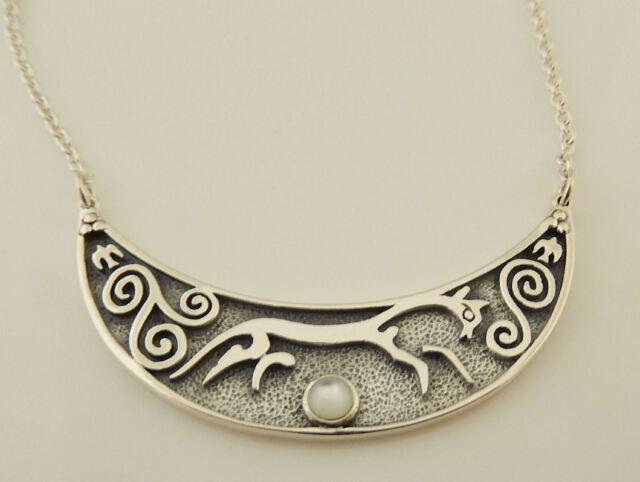 Epona Chalk Horse of Uffington Necklace Solid Sterling Silver Rhiannon Goddess