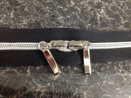 33cm Middle Opening Metal Zipper Black 1 Piece 13/""