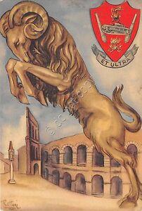 Cartolina-Postcard-Illustrata-Rottini-Militaria-Ariete-anni-039-40