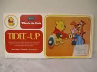 Vintage Winnie The Pooh Tidee Up Coat Rack Hat Cap Clothing Old Stock