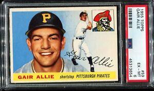 1955-Topps-Baseball-59-GAIR-ALLIE-Pittsburgh-Pirates-PSA-6-EX-MT