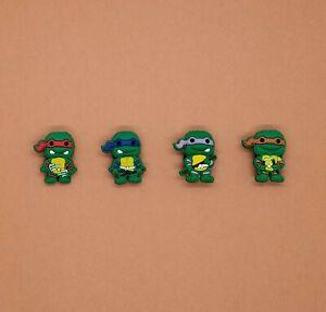 10 x NINJA TURTLES Jibbitz Shoe Charm made for Crocs /& Wristbands,