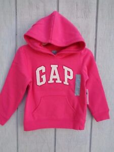 67fd26716930 NEW Baby Gap Hoodie SZ 3T 4T 5T logo Girls Toddler Hooded Jacket ...