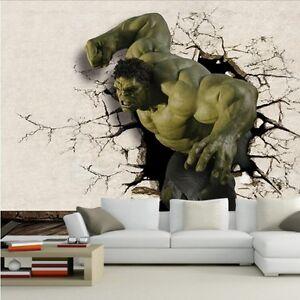 Image Is Loading Hulk Avengers Cartoon Wallpaper Mural Bedroom Boys