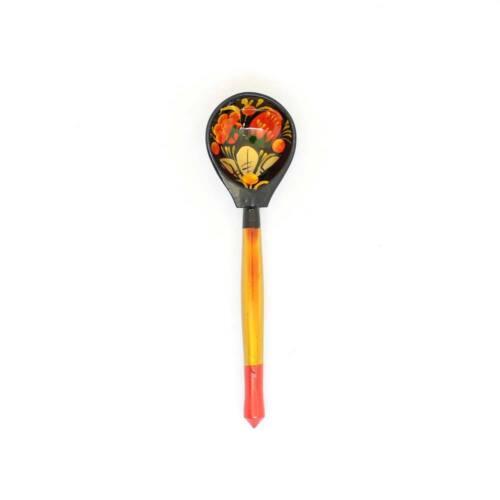 Wooden Russian teaspoon Khokhloma Hand painted #11