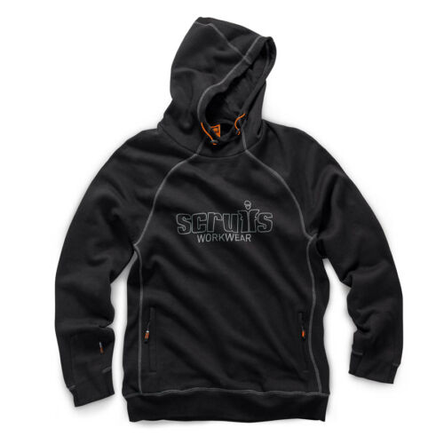 Scruffs Trade Work Hoodie Black Men/'s Hooded Workwear Jumper Choose Your Size