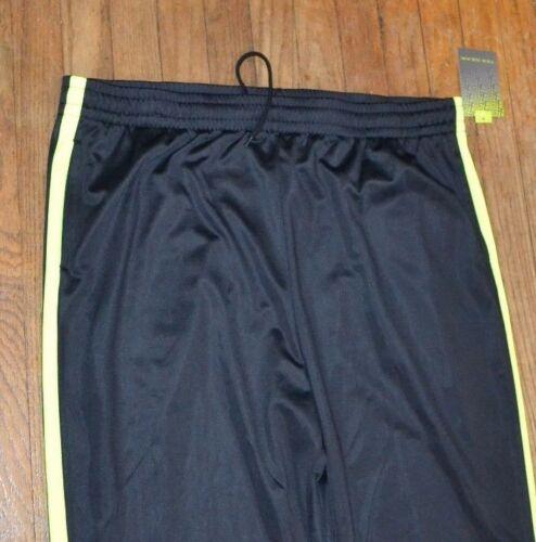 DryTek Men/'s Athletic Black /& Neon Yellow Workout  Pants Tek Gear Track Pant