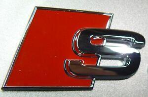 Original-AUDI-S-Schriftzug-Logo-Emblem-NEU-A1-A3-A4-A5-A6-A8-TT-Q7-Q5-Q3