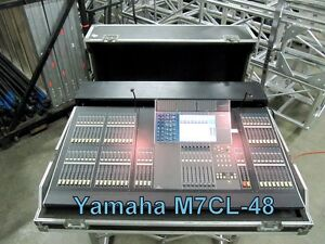 yamaha m7cl 48 48 channel digital mixing board w meter bridge road case ebay. Black Bedroom Furniture Sets. Home Design Ideas