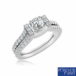 Solid-14k-White-Gold-Proposal-Ring-Round-0-82-Ct-Diamond-Engagement-Ring-Size-N