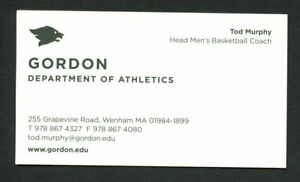 Tod Murphy signed autograph Gordon Basketball Coach Business Card BC065
