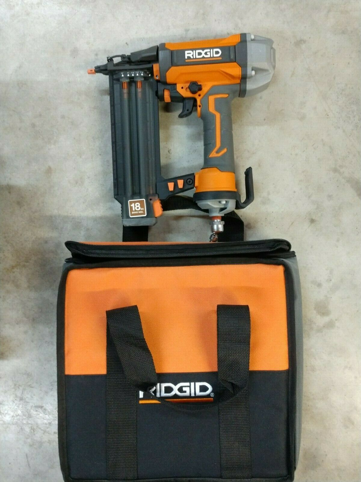 RIDGID 2-1/8 18-Gauge Brad Nailer Model# R213BNF. Available Now for 69.99