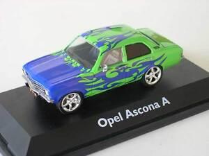 Schuco-Opel-Ascona-A-TUNING-CAR-BLU-VERDE-1-43-art-02657