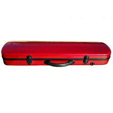 4/4  Oblong Violin Case Fiberglass Burgundy Brand New Great Deal! XT-08