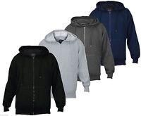 Mens True Face Fleece Plain Hoodie Sweatshirt Hooded Zipper Jumper Top