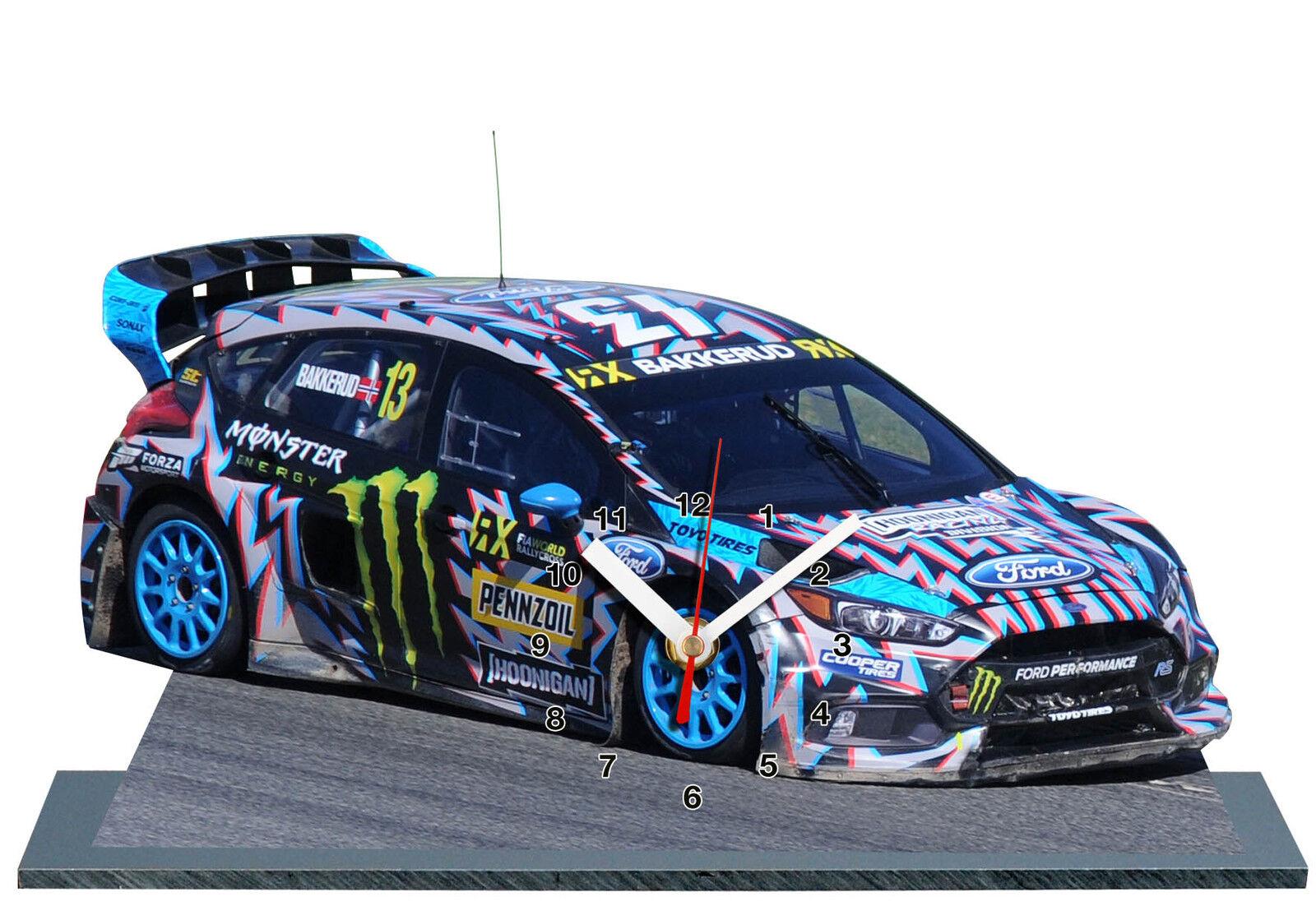 BAKKERUD, Rallycross, Barcelona 2017, Ford , MINIATUR MODELLAUTOS in der Uhr -01