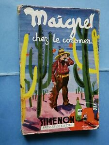 Edition-Originale-1949-GEORGES-SIMENON-Maigret-chez-le-Coroner-Rare-Jaquette