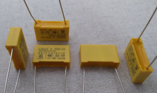 10 trozo de condensadores 0,033 UF K 275v x2 MPX//obvias