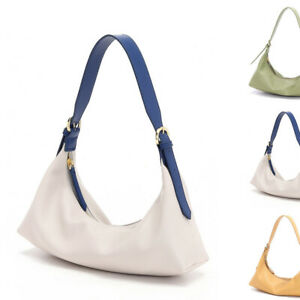 Real-Leather-Small-Mini-Shoulder-Bag-Baguette-Purse-Hobo-Adjustable-Crossbody