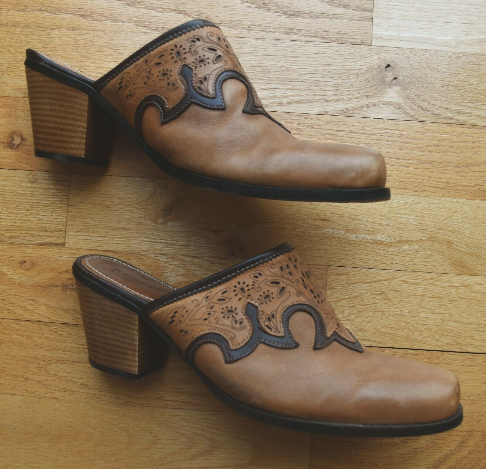 Women's Sonora Western Leather Slides Mules Cowbo… - image 7