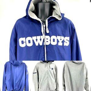 Dallas-Cowboys-Reversible-Jacket-Hoodie-size-2XL-NFL-Football-EUC-4