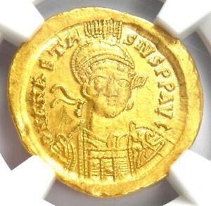 Byzantine-Anastasius-I-AV-Solidus-Gold-Christ-Coin-491-518-AD-NGC-Choice-AU