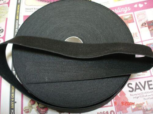1.1//2 yards**.Black* 1 inch heavy duty elastic band