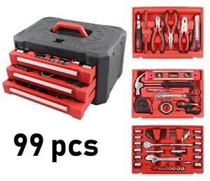 99-Piece-3-Drawer-Home-Tool-Set-Handwerkzeug-Set-Werkzeugkoffer