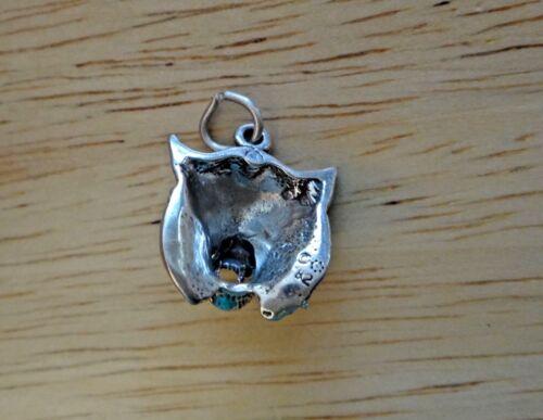 Sterling Silver 17x15mm 3 G Détail Bobcat Wildcat Head animal Charme Creux BK