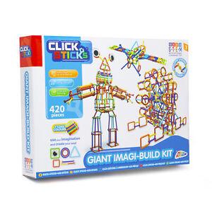 Click Sticks 420PCS Giant Imagi Build Kit Construction Set Educational Kids Toy