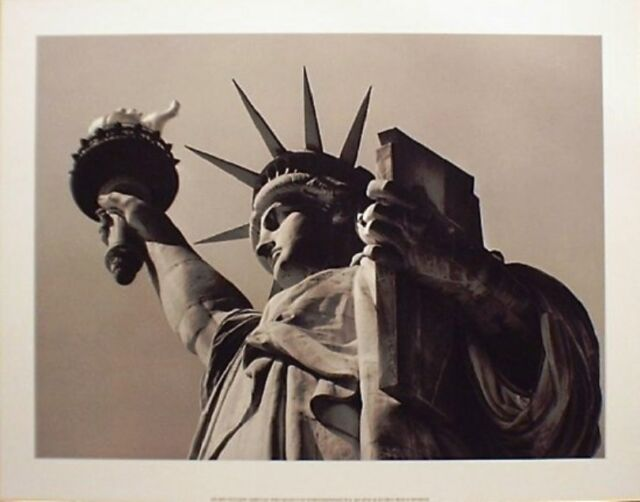 NEW YORK PHOTO ART PRINT STATUE OF LIBERTY by Henri Silberman 20x40 NYC Poster