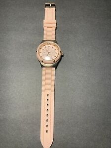 Lt Pink Jelly Silicone Band Quartz Women's Wristwatch Rose Gold Colored Accents