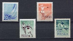 35657) Poland 1959 MNH SPORTS 4v Scott #835/38