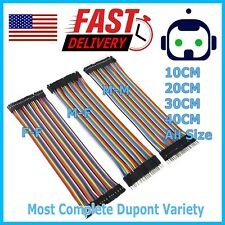 Dupont Cable Jumper Wire 10 20 30 Cm F M F F M M For Breadboard Arduino Usa