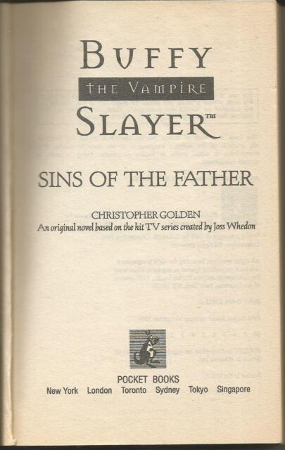 Buffy The Vampire Slayer Sins Of The Father No 8 By Christopher