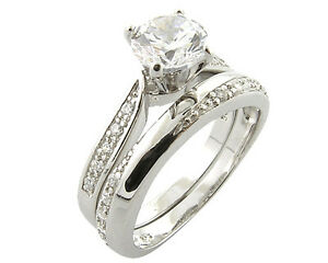 Image Is Loading Platinum Look 925 Sterling Silver Simulated Diamond Engagement