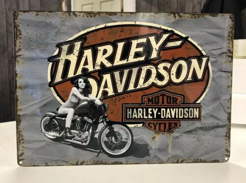 Motorcycle motorbike metal tin sign Retro garage