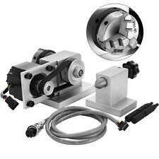 Cnc Router Rotational Rotary Axis 50mm 3 Jaw Chuck Amptailstock 4th Axis Engraver