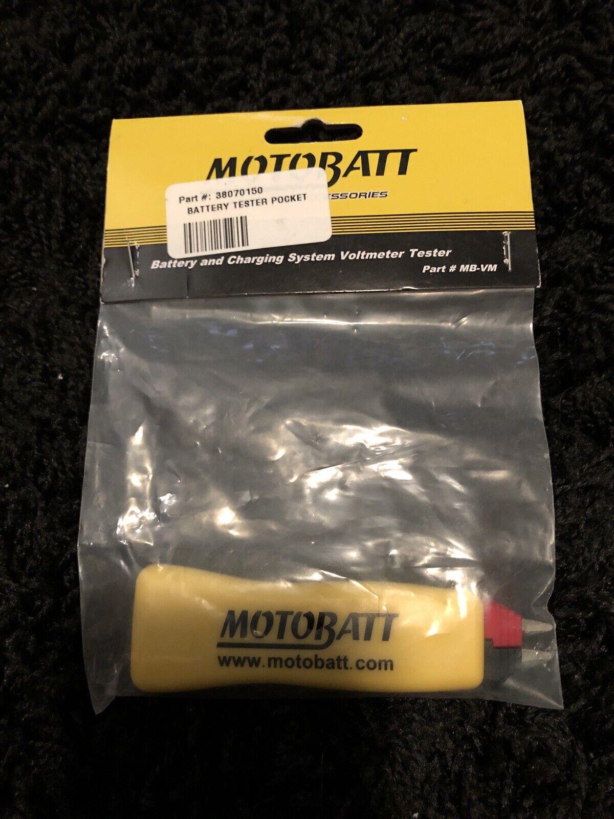 Brand New Motobatt 38070150 Battery Tester Pocket